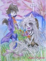 Prince of Black Lions n Daughter of White Lions by Charming-Manatee