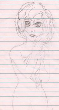 quick wip of a girl by BeyaMami