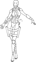 Grinning Wasp Lineart by Fish-with-a-Knife