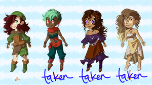 Adoptable Set 1 - Travelers OPEN by cedadopts