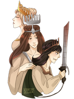 SnK | Maria, Rose and Sina by KsiezniczkaOlya
