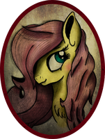 Fluttershy Portrait by AncientOwl