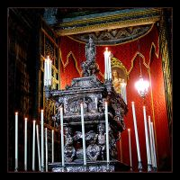 Silver Coffin With The Remains Of The Holy Rosalia by skarzynscy