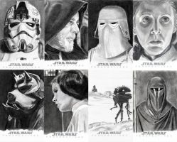 Topps Sketch Cards Group 4 by khinson