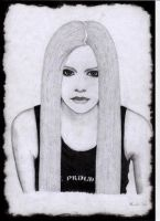 An angry Avril L.. by Gothik87 by PortraitPencilArt