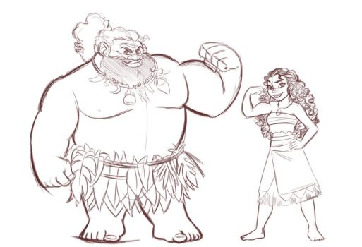 Moana and Maui by Nippy13