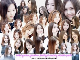 SNSD render pack ( Yoona Jessica Sunny Seohyun ) by Luhye
