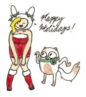 Happy Holidays from Fionna and Cake by mewsingmage