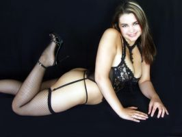 Valerie In Black Lace by Snapfoto