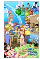 Portada One Piece Party colored by me by Samanta95