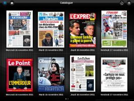 Projet application Ipad vente magazines by JFDC