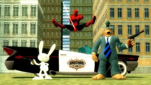 Spiderman teams up with Sam and Max by ErichGrooms3