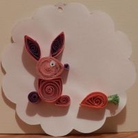 Easter bunny quilling by crochetamommy