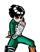 rock lee challenge cellshaded by onimushawn