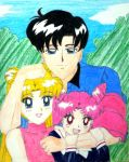 Sailor Moon family by cassiopeia09
