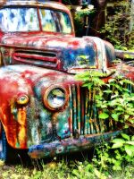 The Abandoned Car by RiegersArtistry