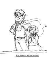 Shaggy and Velma: Super halloween fantasy by brensey