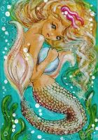 Love Pearls - Mermaid ACEO by BlackAngel-Diana