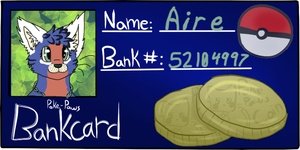 Aire's bank card by Hawksfeathers97