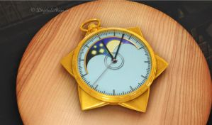 Sailor Moon Star Locket, Spieluhr 3D testredering by digitalAuge