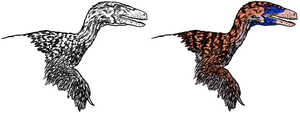 Deinonychus rush job by Tomozaurus