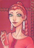 ACEO 127: 'Drink Me'- Carrot Juice by Forunth