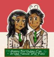 HBD Misschocoholic: Her Twins as Dem Twins by maricookie