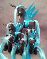 Queen Chrysalis custom ponies x6 - MLP:FiM by hannaliten