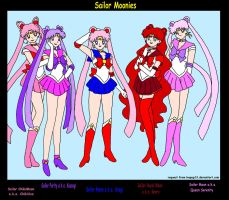 5 Sailor Moons by XNekoXMika