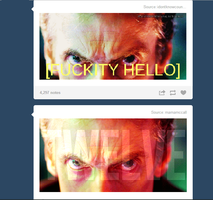 Two sides of fthe Doctor Who fandom by lollimewirepirate