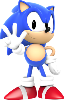 Classic Sonic Peace Sign by Pho3nixSFM