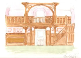 The Maple-Drawing Room, a Water-colour... by I-TsarevichAlexei13