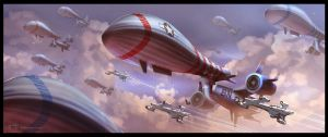 Airship Fleet by woontze