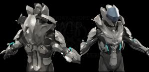 Forerunner combat skin concept WIP by Dutch02