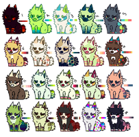 Large lot of pups [closed] by catttastic