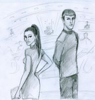Uhura Spock by HILLYMINNE