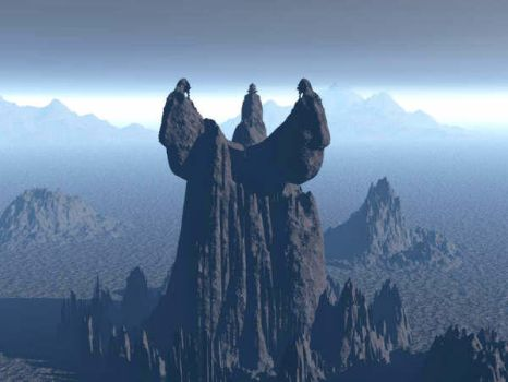 Three Horned Mountain by eosmusashi