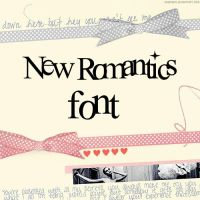 NEW ROMANTICS FONT by CrazyObssesion