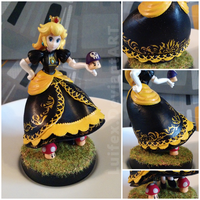 Peach Amiibo Recoloured Black by Luifex