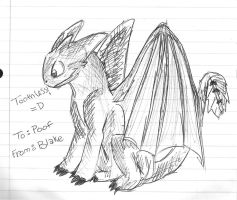 Toothless Doodle by chameron