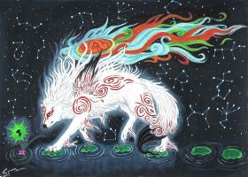 Okami God contest entry by MysticGaia