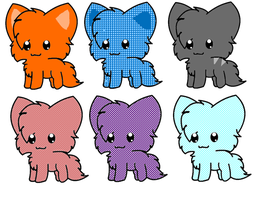 Kitty Adoptables 1 -VERY CHEEP- by All-Adoptable-s