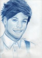 Louis Tomlinson drawing by Bluecknight
