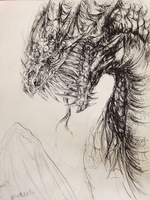 Ink Dragon by SomeUselessKid