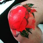 roses on knees ..painfull but beautiful by loop1974