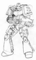 Space Marine Shepard by Sheason