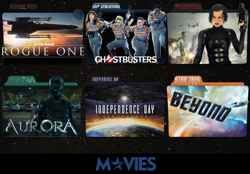 Sci fi Movies 2016 Folder Icon Pack by MovieIconMan