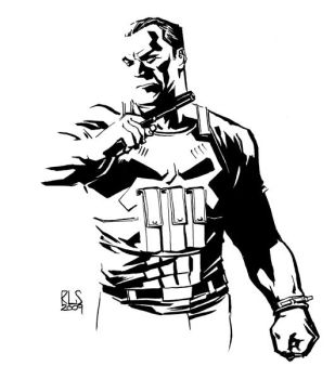 Punisher sketch by ronsalas
