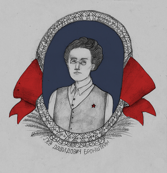 Young Trotsky by nursecosette