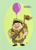 Pixar Madness Month - Day 15 - Russell by tyrannus